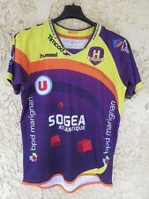 Maillot handball HBC NANTES Hummel signé par plusieurs joueurs shirt LNH S