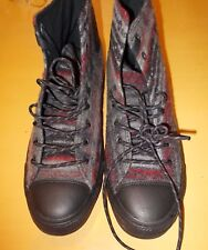 Converse Men's Chuck Taylor Hi SZ 10.5  Woolrich Dolphin Black Red Shoes 153836C