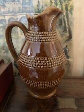 Vintage French Brown Salt Glaze Wine Jug Pitcher Cider Wine