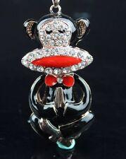 Betsey Johnson Necklace Black Enamel Namaste 🙏🏼 Yoga Monkey 🐒