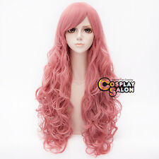 80CM Anime Basic for Steven Universe	Rose Quartz Pink Long Curly Cosplay Wig+Cap