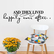 """And They Lived Happily Ever After"".... Happy Quote Wall Sticker"