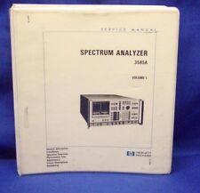 HP 3585A Spectrum Analyzer SERVICE Manual V.1