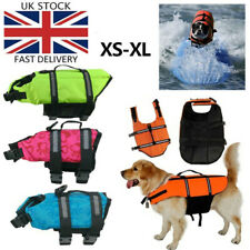 More details for dog life jacket buoyancy aid pet swimming boating reflective safety vest xs-xl