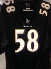 ELVIS DUMMERVILLE NFL GAME JERSEY BRAND NEW BLACK BALTIMORE RAVEN SM,LG,XLG,XXLG