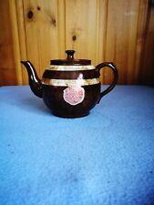 Vintage England Ceramic Arthur Wood Tea pot Brown Marble Striped English Pottery