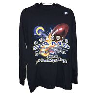 St. Louis Rams shirt Super Bowl XXXIV tee sz. Large NEW deadstock Vintage mint