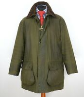 Mens Barbour Border Wax Jacket Green Size C44 / 112CM / 2XL