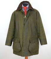 Mens Barbour Border Wax Jacket Green Size C44 / 112CM / 2XL