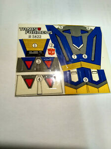 transformers pretender cloudburst original sticker sheet g1 1988