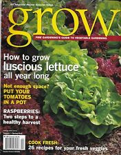 Fine Gardening Grow Magazine Lettuce Tomatoes Raspberries Fresh Recipes Corn