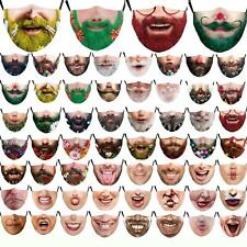 SPOOKY HALLOWEEN FACE MASK WASHABLE REUSABLE + FILTER OLD CHILD/TEEN FACE MASK