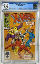 Uncanny X-Men #215 CGC 9.6 White Pages Marvel Comics 1987