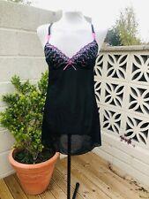 2a4669212 SIZE 14 Ladies Lingerie Nighty Debenhams Presence Nightwear Net Black Pink