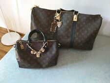 louis vuitton set keepall 50 bandouliere and speedy 25 dyed and altered travel