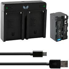 SK Akku für Sony NP-F750 4400mAh + Dual Charger NP-F970 | 1060124 90108 90302