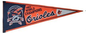 Baltimore Orioles 1983 World Champions 25th Anniversary Logo Pennant MLB 2008