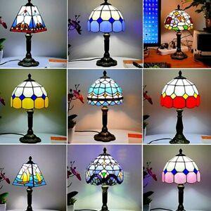 Mediterranean Style Restaurant Bar Cafe LED Vintage Desk Lamps Bedside Lampshade
