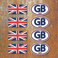 GB Union Jack Laminated Sticker Set Motorbike Scooter Vespa Mod UK Flag Decals