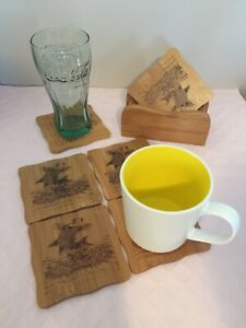 Bamboo Cup Mat With Holder 7 Piece