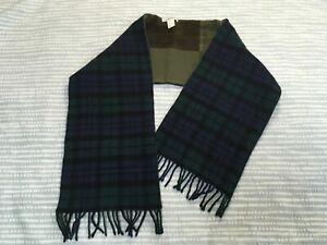 Dolce & Gabbana vintage patchwork scarf check wool corduroy green brown navy