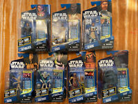 2010 Hasbro Star Wars Clone Wars Galactic Battle Game Figure Lot On Card.