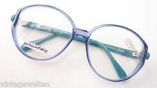 61465d9df1 New listingVintage Silhouette Glasses Glasses Frame Large Glasses Circly  Blue Green