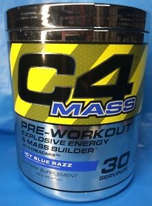 Cellucor C4 Mass Pre-workout Energy Mass 30 serving Icy Blue Razz PAST DATE DEAL