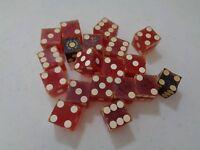 Lot of 19 Older Vintage Red Las Vegas Casino Dice Hacienda Horse Rider R3