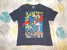 T SHIRT DC COMICS Superman Last Son Of Krypton Blue Adult Large L