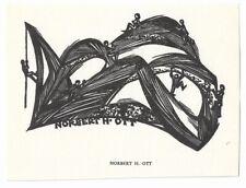 NORBERT H. OTT: Eigen- Exlibris
