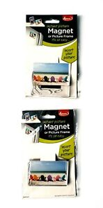 """Adventa Instant Picture Magnet or Frame 3"""" x 2"""" Photo Square w/ Stand Lot of 2"""