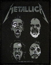 "METALLICA PATCH / AUFNÄHER # 52 ""BLACK ALBUM SKULLS"""