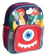 Kids Boys Monster Design Arch Backpack 31cm side pockets Ex-Store