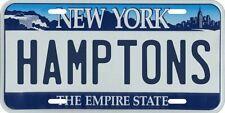 The Hamptons New York Metal License Plate