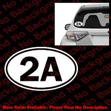 2A 2nd Amendment Sticker Oval Vinyl Decal Car Truck Guns Rights Arms Ammo FA019