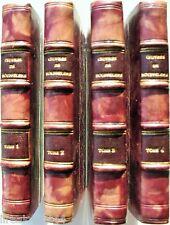 Oeuvres du chevalier de Boufflers Lelong 4 TOMES reliés + ex-libris 1823