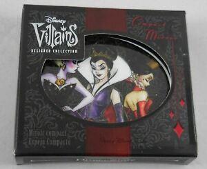 Disney Store Villains Designer Compact Mirror Evil Queen Ursula Queen of Hearts
