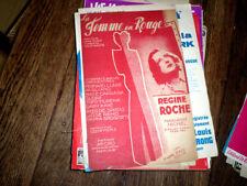 La femme en rouge chanson film La Femme en Rouge par Régine Roche 1946 L. Gasté