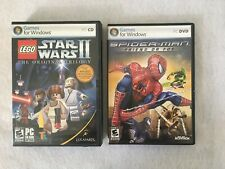 Spider-Man Friend or Foe Star Wars II Tripogy Games For Windows DVD ROM 2007 LOT