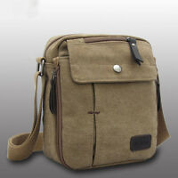 Men Retro Vintage Messenger Canvas Crossbody Shoulder Bag Small Handbag Business