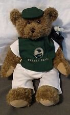 PEBBLE BEACH GOLF Resort Exclusive CADDY BEAR JOINTED 18 INCHES
