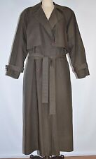 Bill Blass Trench Coat Removable Wool Lining Womens 8 Olive Green