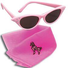Pink Ladies 1950s Glasses Scarf Costume Accessories: Retro Sunglassses Women