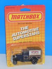Matchbox Late 80s Release MB38 Model A Truck Dark Blue Matchbox Speed Shop