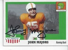 DECEASED JOHNNY MAJORS TENN #38 AUTOGRAPHED 2005 TOPPS ALL AMERICAN CARD SIGNED