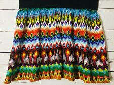 Stooshy Womens Size M  Flaming Brown,Yellow,Pink and White Skirt