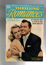 THRILLING ROMANCES #15 JANET LEIGH COVER  PRE CODE RACY CARDY GOOD GIRL ART 1951
