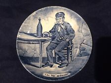 Delft by Boch Butter Plate Made for Royal &Sphix Le Vin Ordinair 4 1/4 ''