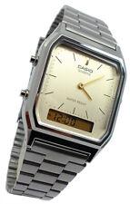 Casio Vintage Armbanduhr automatischer Kalender Edelstahl AQ-230EGG-9AEF